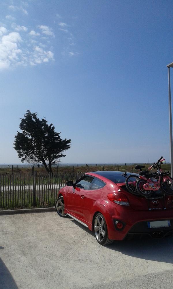 Porte Velo sur la Hyundai Veloster Turbo d'Aurélien