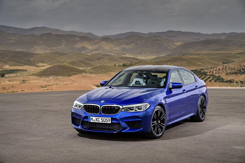 BMW M5 F90 vue de 3/4