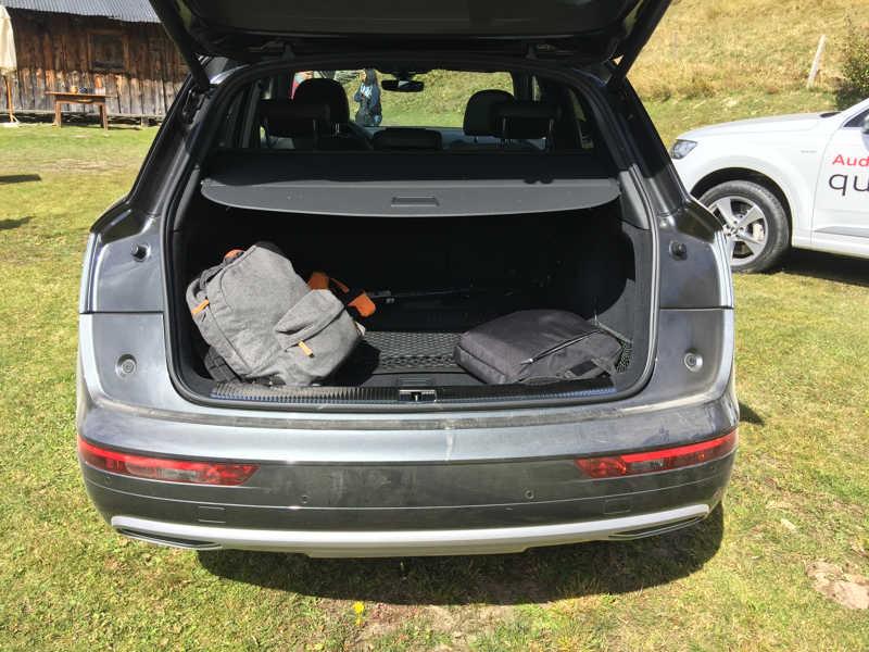 Le coffre de l'Audi Q5