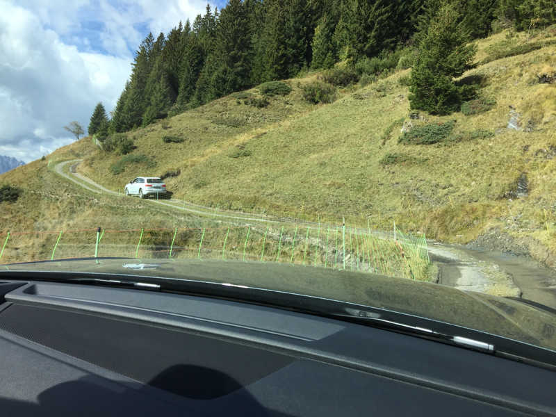 Dans la montagne en Audi Q5