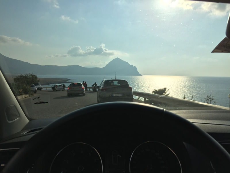 Quelque part entre San Vito Lo Capo et Trapani, sur une aire de repos