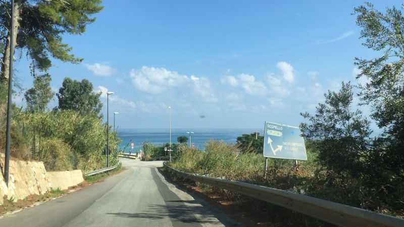 La route de Scopello, en Sicile