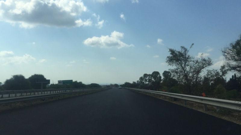 Une portion d'autoroute sicilienne refaite