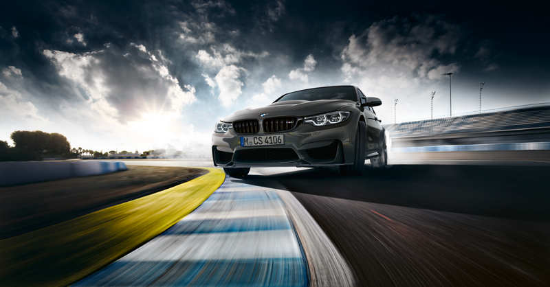 BMW M3 CS en plein powerslide