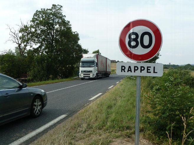 Baisse de la limite de vitesse