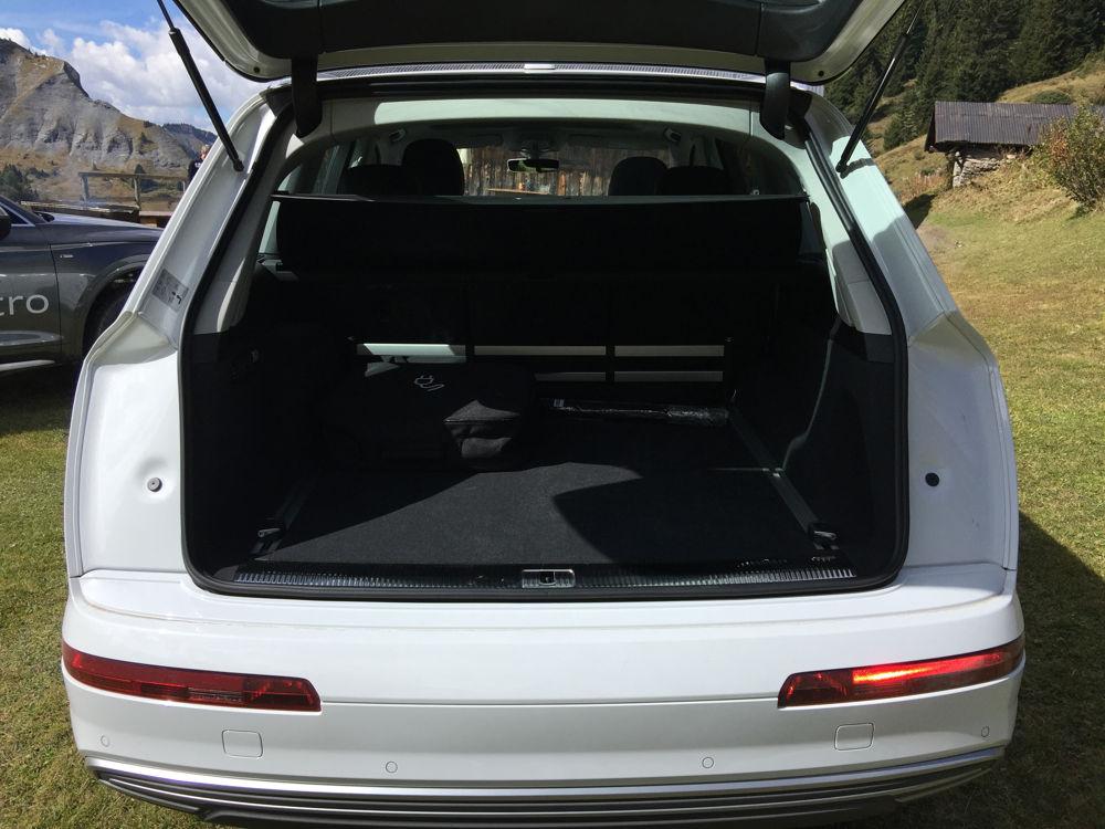 Coffre de l'Audi Q7 e-tron