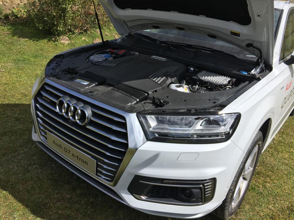 Baie moteur de l'Audi Q7 e-tron