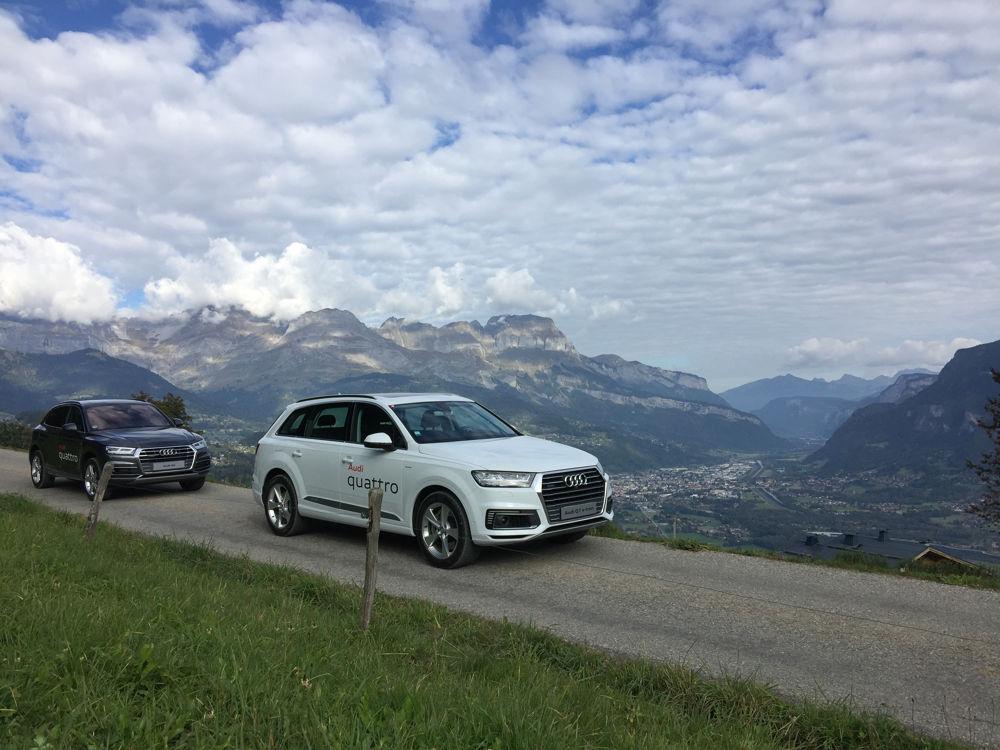 Audi Q7 e-tron sur les hauteurs de Megève