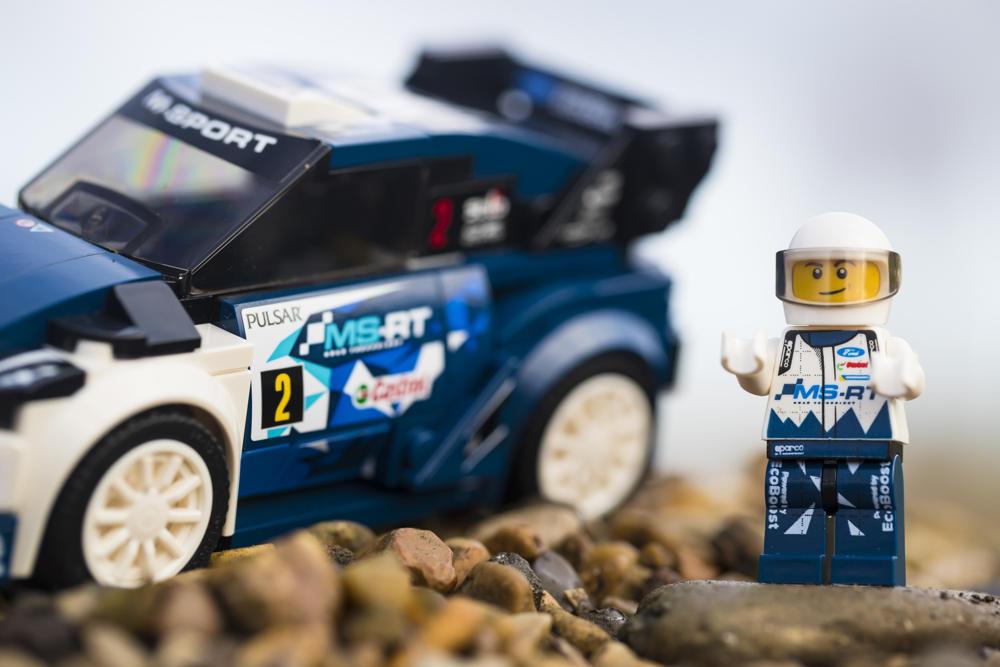 Lego Ford Fiesta WRC M-Sport et son pilote