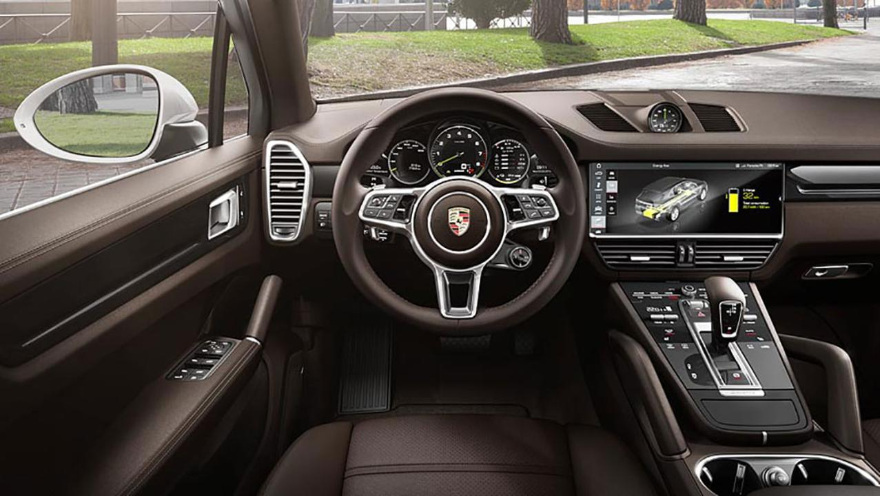 Intérieur du Porsche Cayenne E-Hybrid