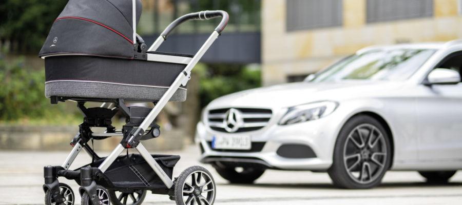 Poussette Mercedes jantes AMG